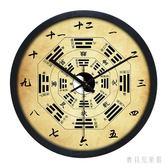 太極八卦掛鐘 客廳中式風水足道中國風招財鐘表 BF9751『寶貝兒童裝』