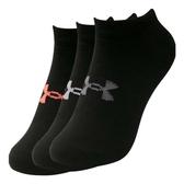 UA Essentials No Show 襪子 腳踝襪 透氣 緩衝 訓練 休閒 黑 六入【運動世界】1332981-001