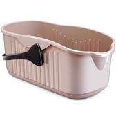 佳幫手佳幫手免手洗拖把桶方形加厚水桶塑料家用儲水桶搓衣板設計WD 至簡元素