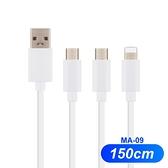 快速充電線 150cm 超級快充線 適用 Micro USB Type-C iPhone 1.5米 閃充線 傳輸線