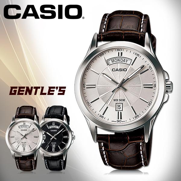 CASIO 卡西歐 手錶專賣店 MTP-1381L-7A VDF 男錶 指針錶 白面 礦物玻璃鏡面 真皮錶帶