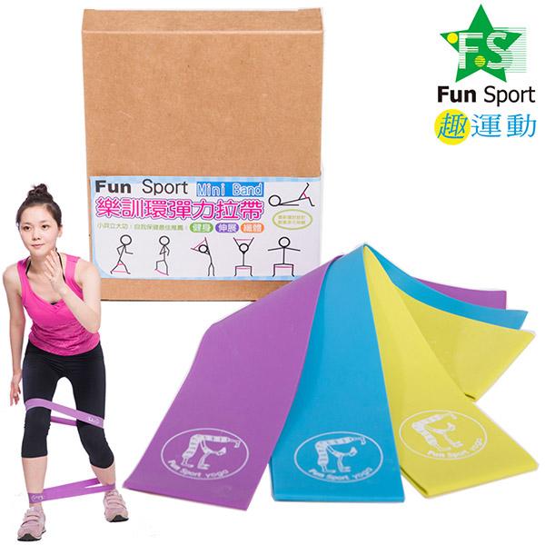 Fun Sport 樂訓環彈力拉帶(MINI BANDS) (3種力道組合)
