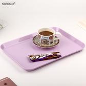 密胺茶盤水盃蛋糕托盤長方形塑料家用創意歐式水果盤客廳現代簡約 居享優品