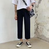 西裝褲男褲直筒寬鬆垂感九分休閒褲夏季薄款新款闊腿學院風潮 韓國時尚週