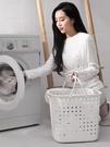 收納籃 臟衣籃塑料洗衣簍放衣物的神器臟衣服收納筐家用裝衣婁桶籃子簍子【快速出貨八折鉅惠】