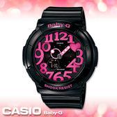 CASIO卡西歐 手錶專賣店  Baby-G BGA-130-1B 女錶 霓虹立體數字造型 防水100米 橡膠錶帶