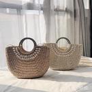 草編包新款手提包貝殼大容量手工編織包女海邊度假沙灘包 LF5147【東京衣社】