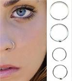 S925純銀鼻釘鼻環鼻圈小耳圈個性耳釘防過敏小飾品學生女 瑪麗蘇