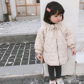 兒童棉服秋冬韓版簡約保暖棉衣女童寶寶中長款外套大衣 港仔會社