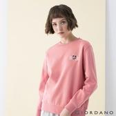 【GIORDANO】女裝CHEER YOU ON大學T恤 - 42 薔薇粉紅