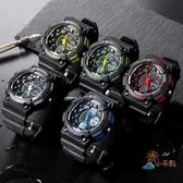 個性時尚雙顯電子手錶男多功能運動手錶深度防水游泳腕錶夜光WY 快速出貨