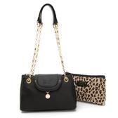 PLAYBOY-  斜背包 Leopard時尚豹豹系列 -黑色