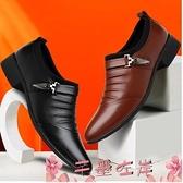 皮鞋新款男士皮鞋新品男鞋時尚男皮鞋尖頭英倫拍攝鞋商務正裝休閒男鞋 芊墨 上新