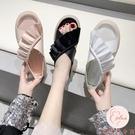 新款夏季百搭涼鞋百搭鞋平底舒適軟底時尚女鞋【大碼百分百】
