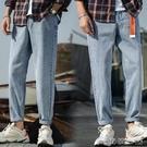 寬管褲 2020夏季新款質感有型牛仔褲寬鬆自然男式闊腿九分褲舒適親膚褲潮