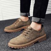 馬丁靴   短靴男韓版潮流休閒鞋工裝大頭皮鞋低筒復古板鞋馬丁靴男靴子   ciyo黛雅