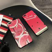 夏日里水靈西瓜美圖iphone6plus手機殼i7i8軟殼全包潮女   魔法鞋櫃