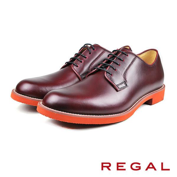 【REGAL】個性俐落德比鞋 酒紅(51MR-BUR)