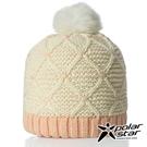 【PolarStar】兒童拼色保暖帽『白色』P18616 羊毛帽 毛球帽 素色帽 針織帽 毛帽 毛線帽 帽子