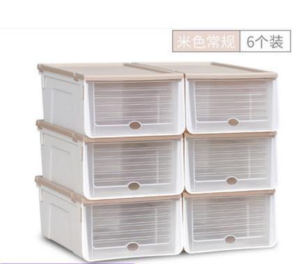 加厚放鞋子的收納盒抽屜式透明鞋盒組合鞋收納箱鞋盒子塑料整理箱洛麗的雜貨鋪