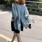 露背繫帶襯衫防曬外套長袖上衣韓版中大尺碼【83-12-80868-21】ibella 艾貝拉