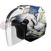 [中壢安信]SOL SL-27S SL 27S 彩繪 獨角獸三代 白藍 安全帽 半罩式安全帽 再送好禮2選1