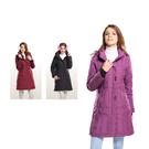 【SAMLIX 山力士】女 時尚線條羽絨大衣(#37011淺紫.酒紅.黑色)