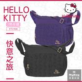 Hello Kitty 側背包 快意之旅 印花 多夾層 斜背包 斜跨包 KT01R06 得意時袋