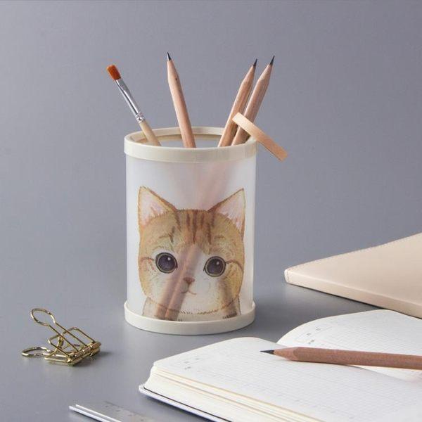 筆筒創意時尚多功能可愛女小學生桌面收納盒辦公用品韓版個性ins擺件簡約清新大容『夏茉生活』
