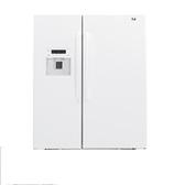 *~新家電錧~*【奇異 GZS22DGWW】702L 對開門冰箱純白門板白色機身 【實體店面】