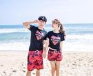 海邊度假 情侶沙灘褲男士寬鬆五分褲泳褲女蜜月T恤套裝夏季短褲   圖拉斯3C百貨   圖拉斯3C百貨