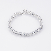 純銀手鍊女 簡約流行圓珠手鍊女士飾品送閨蜜朋友生日禮物