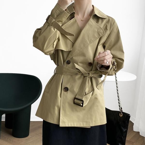 簡約時尚雙排釦外套風衣外套韓版【82-25-87011-20】ibella 艾貝拉