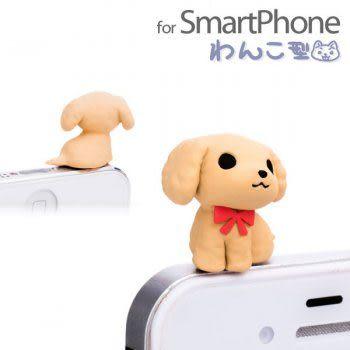 ❤Hamee 日本正版 NicoNico Puppy系列小狗防塵耳機塞 小狗耳機塞 紅貴賓 [5-601472]