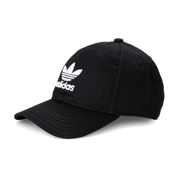 IMPACT Adidas Originals Trefoil Cap LOGO 黑 白 老帽 棒球帽 灣沿帽 三葉草 情侶 男女可戴 BK7277
