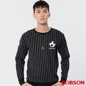BOBSON 男款足球條紋上衣 (36026-88)
