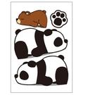 可愛熊貓車貼 卡通熊貓 搞笑熊貓 車身貼 車尾貼 汽車貼紙 遮刮痕 沂軒精品 A0635
