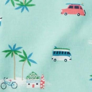 Carter's 連身衣 包屁衣 綠色汽車椰子樹圖案短袖連身衣 6M (Final sale)