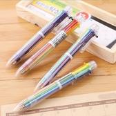 6色彩色按壓原子筆