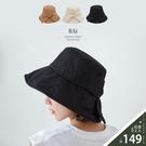 蝶結大帽沿可折疊平頂遮陽帽-BAi白媽媽【316065】