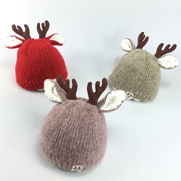 秋冬季0-3-6-12個月寶寶帽子冬天加厚保暖嬰兒毛線帽男童女童套頭
