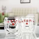 (交換禮物)現貨 耐熱玻璃雙層杯 防燙手雙層玻璃杯 創意可愛少女心內膽小熊造型水杯茶杯