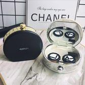 眼鏡盒 2019新款華麗香水瓶款時尚美瞳盒隱形眼鏡醉香黑白伴侶盒 聖誕交換禮物