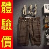 吊帶褲-英倫紳士潮流休閒男背帶短褲2色69s1【巴黎精品】