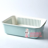 瀝水籃 雙層方形洗菜籃子瀝水籃塑料家用創意水果盤多功能廚房淘米洗菜盆 3色