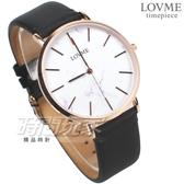 LOVME 完美時刻 大理石紋造型錶 藍寶石水晶玻璃 黑色x玫瑰金 真皮 男錶 中性錶 VL5012M-43-241