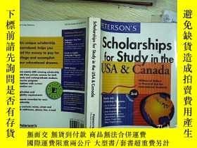 二手書博民逛書店SCHOLARSHIPS罕見FOR STUDY IN THE U