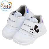 《布布童鞋》Disney迪士尼米奇純白潮流兒童休閒鞋(14~19公分) [ D0T609M ]