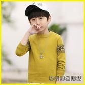兒童毛衣 童裝男童套頭毛衣兒童針織衫
