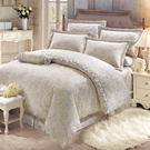 床罩組 PIMA匹馬棉 雙人加大400織 七件式兩用被床罩組/約瑟芬灰[鴻宇]台灣製2002